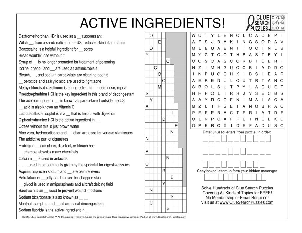 active ingredients trivia quiz