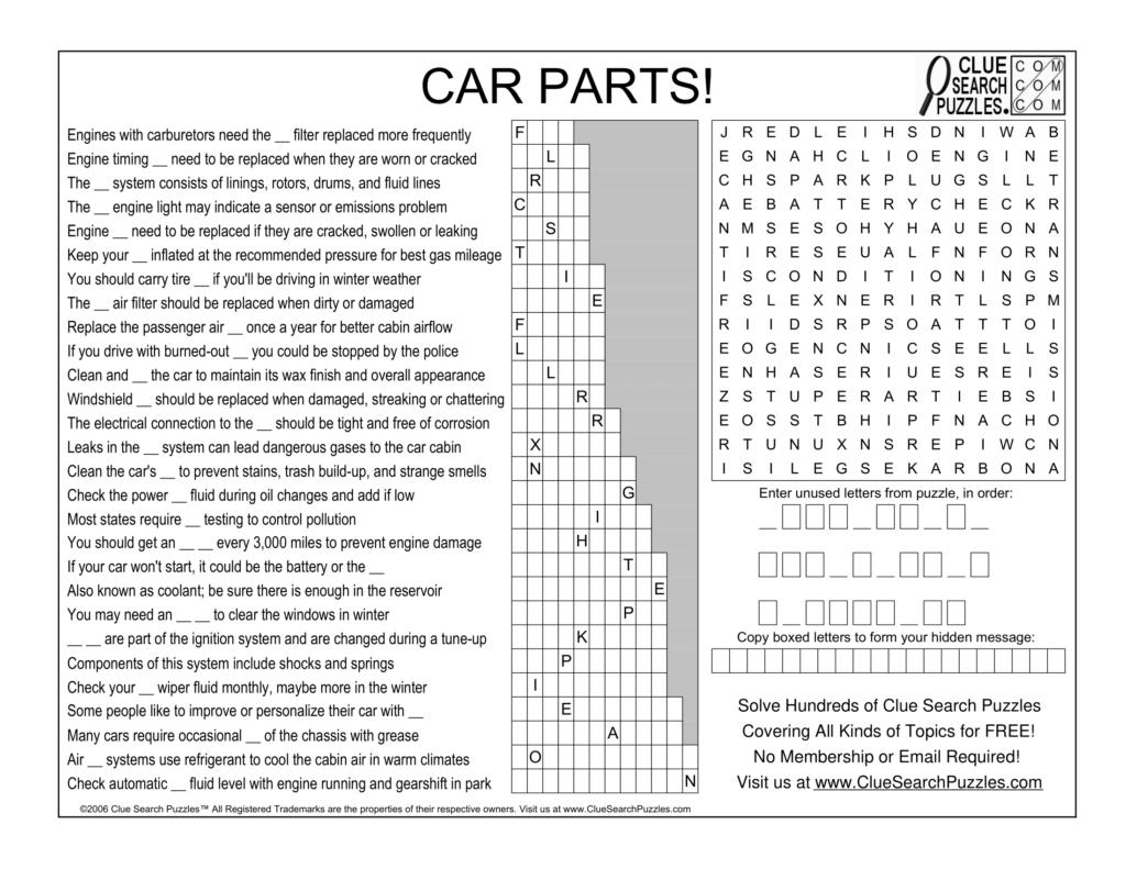 car parts trivia quiz