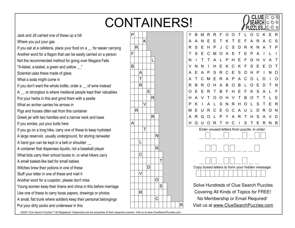 containers trivia quiz
