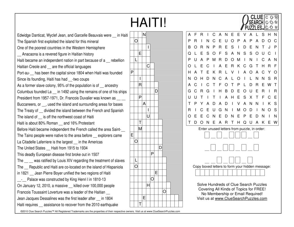 haiti trivia quiz